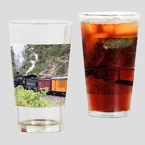 Steam train engine, Colorado, USA, Drinking Glass