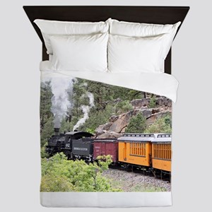 Steam train engine, Colorado, USA, 9 Queen Duvet