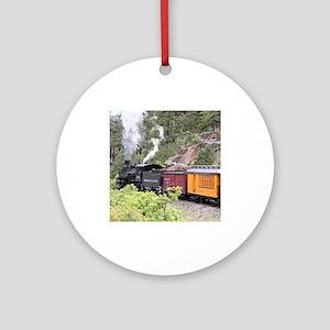Steam train engine, Colorado, USA Ornament (Round)