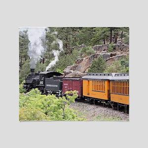 Steam train engine, Colorado, USA, 9 Throw Blanket