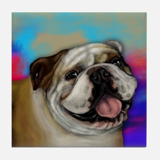 English Bulldog Dog Tile Coaster