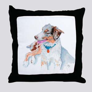 Matrix the Australian Shepherd Throw Pillow