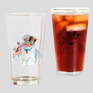 Matrix the Australian Shepherd Drinking Glass