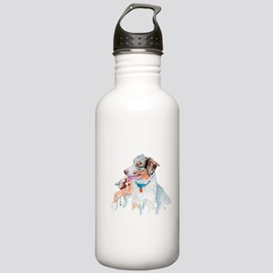 Matrix the Australian Shepherd Water Bottle