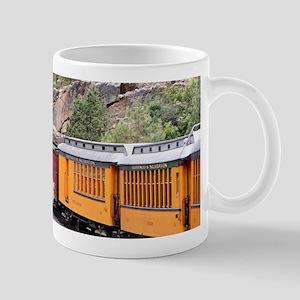 Steam train engine, Colorado, USA, 9 Mugs