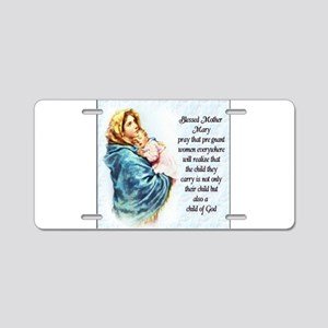 ProLife Prayer Aluminum License Plate