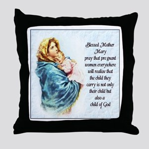 ProLife Prayer Throw Pillow