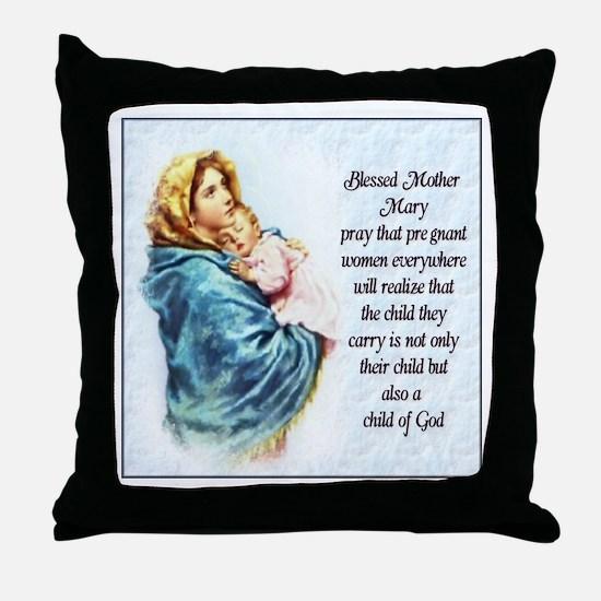 ProLife Prayer Throw Pillow