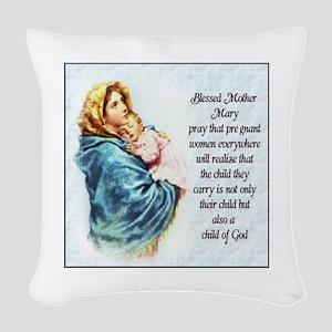 ProLife Prayer Woven Throw Pillow