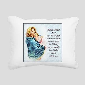 ProLife Prayer Rectangular Canvas Pillow