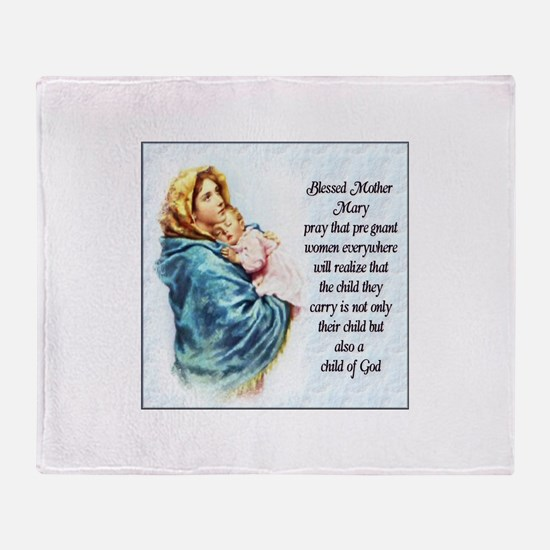 ProLife Prayer Throw Blanket