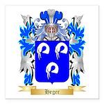 Heger Square Car Magnet 3