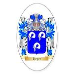 Heger Sticker (Oval 50 pk)