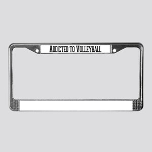 Addicted to Volleyball License Plate Frame