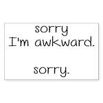 Sorry, I'm Awkward. Sor Sticker (Rectangle 10 pk)