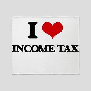 I Love Income Tax Throw Blanket