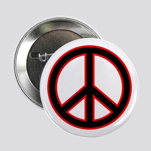 Red & Black Peace Button