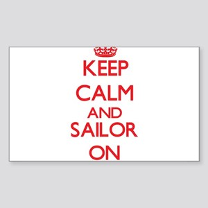 Keep Calm and Sailor ON Sticker
