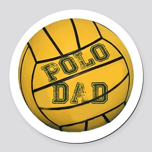 Polo Dad Round Car Magnet