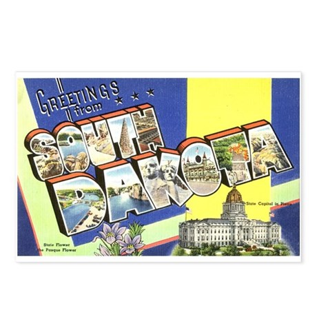 Greetings from South Dakota Postcards (Package of