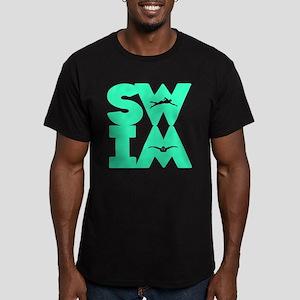 SWIM BLOCK Men's Fitted T-Shirt (dark)
