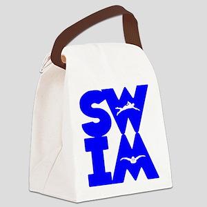 SWIM BLOCK Canvas Lunch Bag