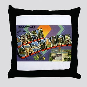 Greetings from South Carolina Throw Pillow