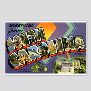 Greetings from South Carolina Postcards (Package o