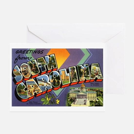 Greetings from South Carolina Greeting Cards (Pack