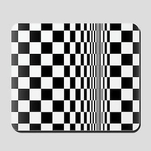 Op Art Curl Mousepad