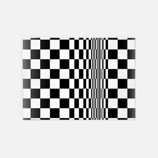 Op Art Curl 5'x7'Area Rug