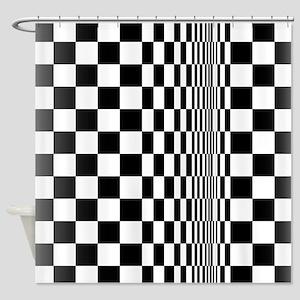 Op Art Curl Shower Curtain