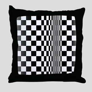 Op Art Curl Throw Pillow