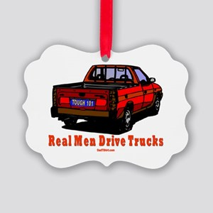 Real Men Drive Trucks Picture Ornament