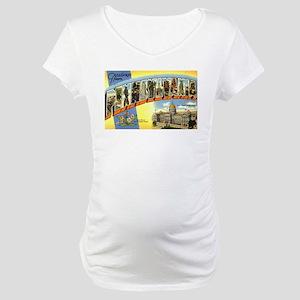 Greetings from Pennsylvania Maternity T-Shirt