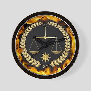 Flaming Justice Wall Clock