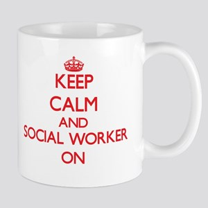 Keep Calm and Social Worker ON Mugs