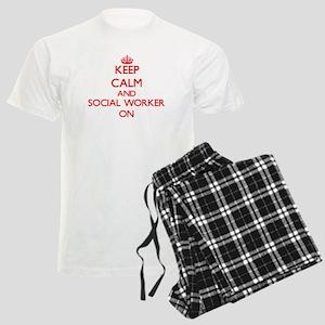 Keep Calm and Social Worker O Men's Light Pajamas