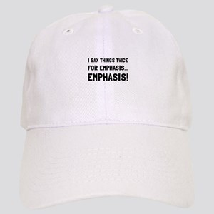 Twice For Emphasis Baseball Cap