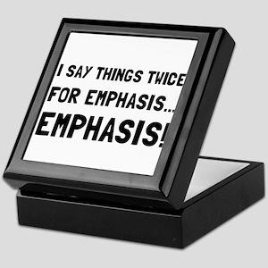 Twice For Emphasis Keepsake Box