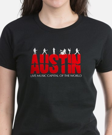 Austin Live Music Band Women's Dark T-Shirt