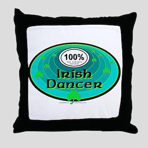 100 PERCENT IRISH DANCER Throw Pillow
