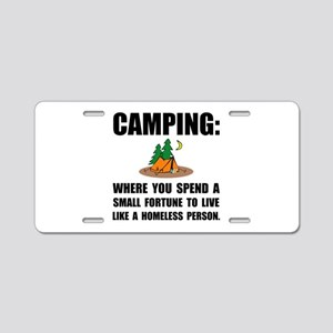 Camping Homeless Aluminum License Plate