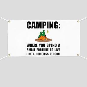 Camping Homeless Banner