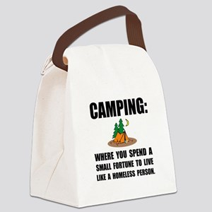 Camping Homeless Canvas Lunch Bag