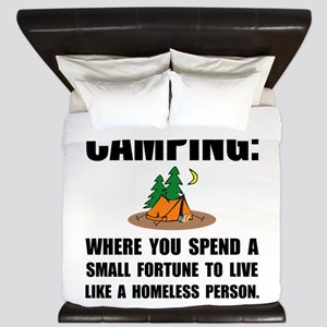 Camping Homeless King Duvet