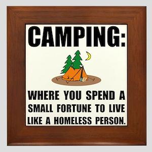 Camping Homeless Framed Tile
