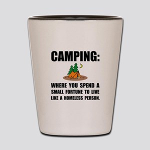Camping Homeless Shot Glass