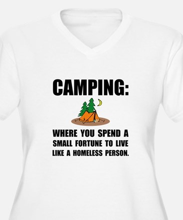 Camping Homeless Plus Size T-Shirt
