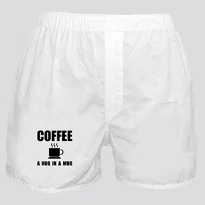Coffee Hug In Mug Boxer Shorts